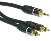 35-Feet Premium 3.5mm Stereo Male to Dual RCA Male Cable