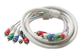 5-RCA Component Video/Audio Cable, Ivory