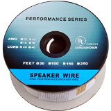 50 Feet 14AWG CL2 Rated 2-Conductor Loud Speaker Cable (For In-Wall Installation)