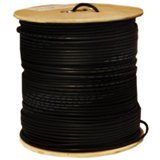 1000 feet CAT5E 24AWG 4PR Direct Burial Outdoor Shielded Ethernet Cable Black