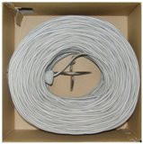 Bulk Shielded Cat5e 1000-Foot Gray Ethernet Cable, Stranded, Pullbox