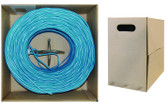 Bulk Shielded Cat5e Blue Ethernet Cable, Stranded, Pullbox, 1000-Foot