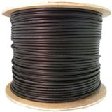 CAT5E 24 AWG 1000-Feet STP with CMXT Outdoor/Direct Burial, Foil with Waterproof Tape, Solid - Black Spool