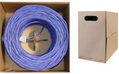 1000- feet 23 AWG CAT6, 550-MHz Solid Bulk Cable, 4-Pair, PVC,Purple