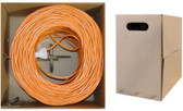 1000- feet 23 AWG CAT6, 550-MHz Stranded Bulk Cable, 4-Pair, PVC Orange