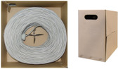 1000 feet CAT 6 23AWG 4PR UTP Plenum Ethernet Cable CMP Rated White