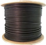 1000 feet CAT6 23AWG 4PR Direct Burial Outdoor Waterproof UV Rated Ethernet Cable Black