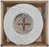 Cat6 24 AWG 500MHz 1000-Feet UTP Bulk Cable, Solid - White