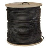500-Feet RG59 Siamese Solid Coaxial Cable with 18/2 Power, Black
