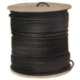 1000-Foot Cable Showcase RG6 18AWG Coaxial Cable, Quad Shielded, Black Spool