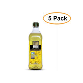 Native Harvest Expeller Pressed Non-GMO Canola Oil, 1 Liters (33.8 FL OZ), 5 Pack