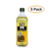 Native Harvest Expeller Pressed High Oleic Non-GMO Sunflower Oil, 1 Liters (33.8 FL OZ), 5 Pack