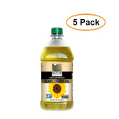 Native Harvest Expeller Pressed High Oleic Non-GMO Sunflower Oil, 2 Liters (67.6 FL OZ), 5 Pack