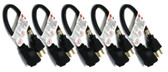 C&E 1 Foot Extension Power Cable, 5 Pack