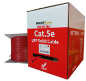 CAT5e Plenum (1000 Feet) Bulk 350MHz Networking Ethernet CMP Cable (Red)