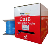 Cat6 Plenum CMP Rated 23AWG (1000 Feet) 550MHz Solid Ethernet Unshielded Twisted Pair (Utp) Networking Cable (Blue)