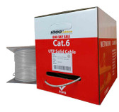 Cat6 Plenum CMP Rated 23AWG (1000 Feet) 550MHz Solid Ethernet Unshielded Twisted Pair (Utp) Networking Cable (Grey)
