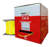 Cat6 Plenum CMP Rated 23AWG (1000 Feet) 550MHz Solid Ethernet Unshielded Twisted Pair (Utp) Networking Cable (Yellow)