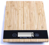 Digital Multi Function Food Kitchen Bamboo Scale, LCD Display, Slim Electronic Weighing Food Scale, Measures in lb/oz/kg/gm