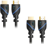 25ft (7.6M) High Speed HDMI Cable Male to Male with Ethernet Black (25 Feet/7.6 Meters) Supports 4K 30Hz, 3D, 1080p and Audio Return CNE60959 (2 Pack)