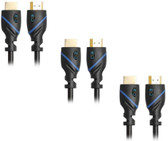 40ft (12.2M) High Speed HDMI Cable Male to Male with Ethernet Black (40 Feet/12.2 Meters) Supports 4K 30Hz, 3D, 1080p and Audio Return CNE507446 (3 Pack)