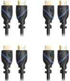 40ft (12.2M) High Speed HDMI Cable Male to Male with Ethernet Black (40 Feet/12.2 Meters) Supports 4K 30Hz, 3D, 1080p and Audio Return CNE514291 (4 Pack)