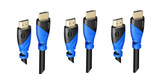 15 FT (4.5 M) High Speed HDMI Cable Male to Male with Ethernet Black (15 Feet/4.5 Meters) Supports 4K 30Hz, 3D, 1080p and Audio Return ED83876 (3 Pack)