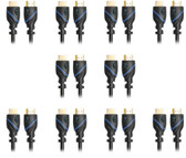 C&E 10 PCS High Speed HDMI Cable with Ethernet 8 Feet, Supports 3D and Audio Return, CNE619965