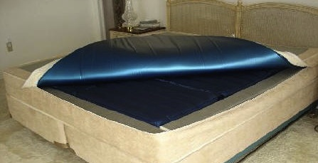 Softside Waterbed with topper folded open