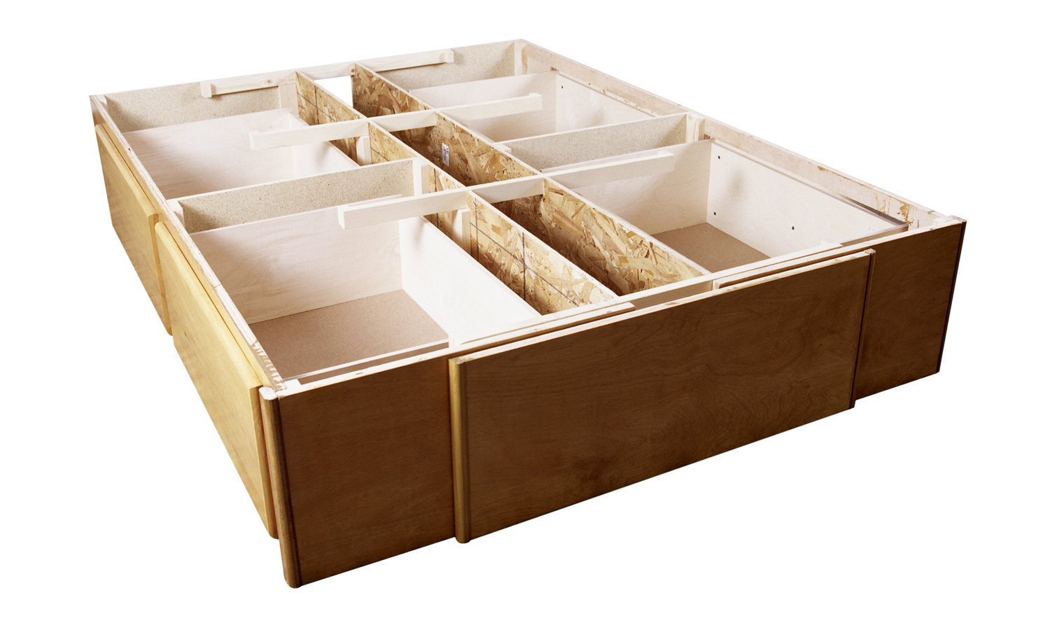 Waterbed Storage Base- 4 drawer underbed storage solution