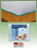 Quilted Waterbed Anchor Band Contour Fit Mattress Pad by Innomax|anchor band, innomax, quilted, contour fit, mattress pads