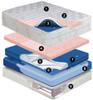 Cashmere Mid Fill 12 inch softside waterbed mattress Dual Chamber Waveless Mattress