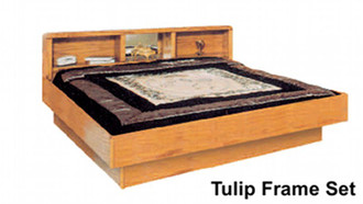 La Jolla Tulip Oak Waterbed Frame. Oak Bedroom furniture