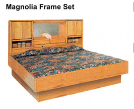 Oak Magnolia Oak Waterbed Hardside Foundation Waterbed Base - Waterbed bedroom furniture