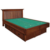 Mission Creek Waterbed With Slat Headboard & Casepieces