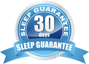 30-night sleep guarantee, in home trial