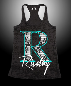 Women's Retro Rivalry Burnout Razor Tank  65% Poly 35% Cotten Pre-Shrunk  3.7 oz