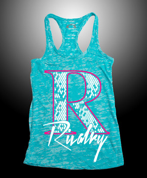 Turquoise Retro Rivalry Burnout Razor Tank