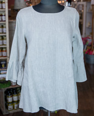 Crown Linen Bella Bell Sleeve (flax)
