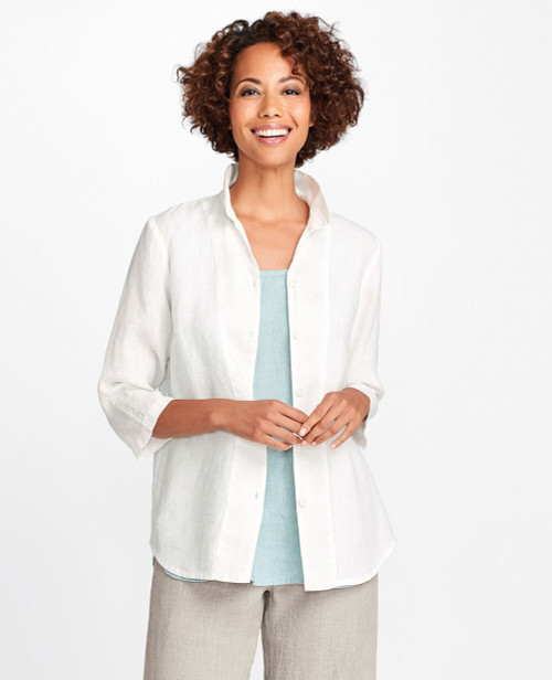 Neutral FLAX 2018 In-Line Blouse