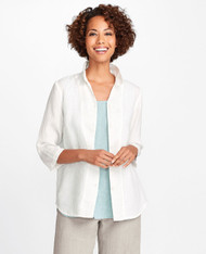 Neutral FLAX In-Line Blouse