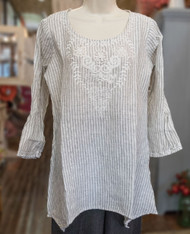 Heart's Desire Clothing India Top with Neck Embroidery