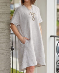 Crown Linen Designs Abigail Dress