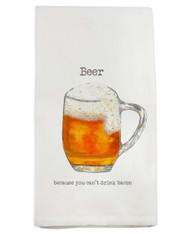 French Graffiti Beer Tea Towel
