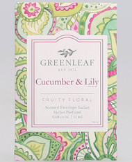 Greenleaf Cucumber & Lily Small Sachet