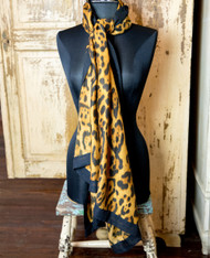 Catherine Lillywhite's Clothing Brown Leopard Scarf