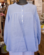 Match Point Short 3/4 Sleeve Loose Top with Buttons