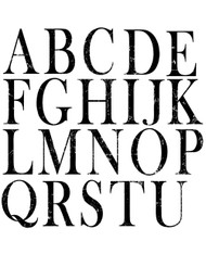 Iron Orchid Designs Typesetting Decor Stamp