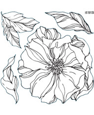 Iron Orchid Designs Peonies Stamp