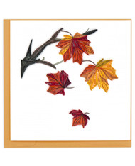Quilling Card Autumn Leaves